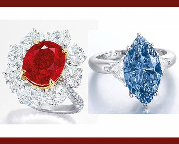 'Ratnaraj' Ruby, Fancy Vivid Blue Diamond Costar at Christie's Hong Kong Sale