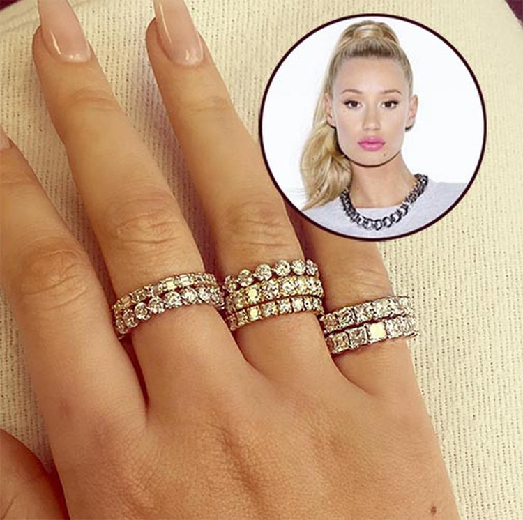 Iggy Azalea Shows Off 7 Diamond Eternity Bands From New Beau French Montana