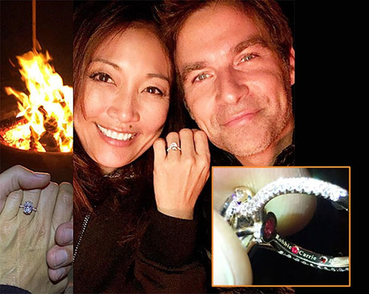 Carrie Ann Inaba's Engagement Ring From Robb Derringer Took Her Breath Away