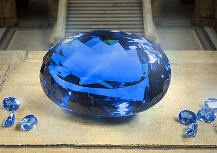After Three Decades Under Wraps, World's Largest Faceted Intense Blue Topaz Goes on Display in London